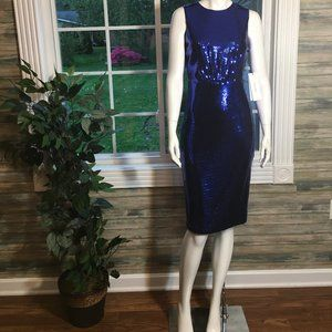 Calvin Klein  Blue sleeveless sequin dress size 2